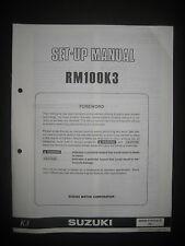 SUZUKI RM100K3 Set Up Manual Set-Up RM 100 K3 99505-01073-01E Motorcycle