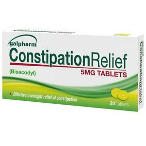 Galpharm Constipation Relief Tablets 5mg Bisacodyl Laxative - EntroLax Dulcolax