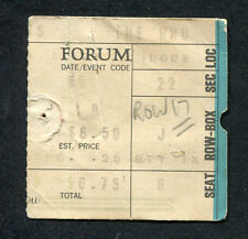 1973 The Who Lynyrd Skynyrd Quadrophenia Tour concert ticket stub Los Angeles Ca