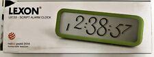 Réveil Alarme Lexon Script Designer Horloge LCD Vert de Table Murale Neuf Scellé