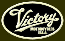 """VICTORY MOTORCYCLES EMBROIDERED PATCH ~3-7/8"""" x 2-3/8"""" BORDADO PARCHE AUFNÄHER"""