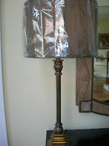 Maitland Smith Antique Gold and Bronze Candlestick Lamp
