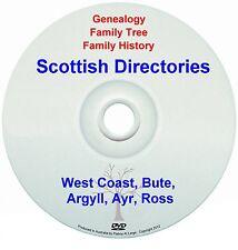 Family History Tree Genealogy Scotland West Coast Bute Argyll Ayr Ross New DVD