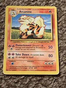 Pokemon Trading Cards Base Set Pokemon Arcanine