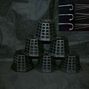 (12 Pack) 4'' Ultimate Plastic Orchid Basket w/30'' Hanger Sophie's Orchids