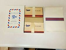 Unique Vintage Air Mail Stationery Set Paper And Envelopes In Original Box