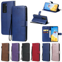 Slim Wallet Leather Flip Case Cover For Huawei P40 Lite P30 P20 Lite Y5P Y6P Y7P