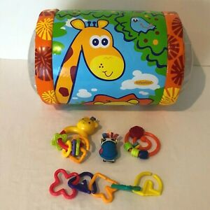 Baby Toys Inflatable Roller Teether Rattle Stroller Toy Developmental Play Links