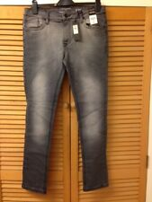 River Island Grey Skinny Stretch Jeans - Size 32R NEW WITH TAGS