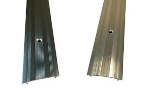 Cover Strip / Vinyl or Carpet Door Bar Trim - Silver or Grey - Threshold Metal
