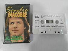 SANDRO GIACOBBE EL JARDIN PROHIBIDO CASSETTE CINTA TAPE SPAIN ED 1984 EMC