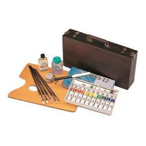 KUSAKABE Special Oil Painting Box Set 12 basic colors Made in Japan
