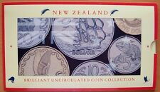 NEW ZEALAND 1990 BRILLIANT UNCIRCULATED COIN COLLECTION IN FOLDER-6 COINS