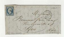 Lyon type Napoléon III timbre sur lettre tampon à date 1854 /B5TSL18