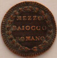 ITALIE ETATS PONTIFICAUX MEZZO BAIOCCO 1790