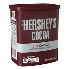 HERSHEY'S Natural Unsweetened 100% Hot Cocoa, Baking, 23 Ounce Can PACK OF 1