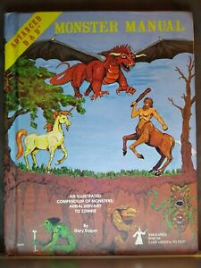 Advanced Dungeons & Dragons -Monster Manual- 4th Ed.Aug 1978 TSR