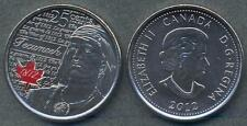 CANADA 25 Cents 2012 War of 1812 - Tecumseh (Colored) UNC