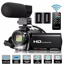 Video Camera Camcorder With Microphone, Videosky Fhd 1080P 30Fps 24Mp Vlogging Y