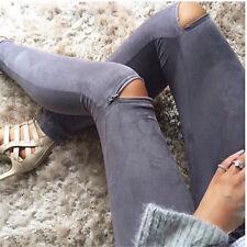AU Sexy Women Skinny Jogger Pencil Pants Jeans Legging Stretch Slim Long Trouser
