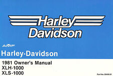 1981 HARLEY-DAVIDSON SPORTSTER XLH1000 & XLS1000 OWNERS MANUAL-XLS 1000-XLH 1000