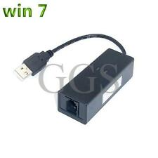 USB 2.0 56K V.92 External Dial Up Voice Fax Data Modem Windows 7 Win7 32 64  WT