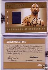 ROY JONES JR. SPORTKINGS AUTOGRAPH - MEMORABILIA GOLD /10 (AM-RJ)