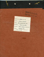 1909 Warren Ohio-Abstract Of Title - TICHENOR + Family