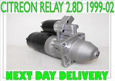 CITREON RELAY 2.8D RMFD STARTER MOTOR 1999 2000 2001 2002 BOSCH 0001218159
