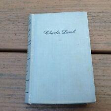 1949 Charles Lamb By John Mason Brown HC Book