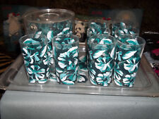 Plastic Tumblers Cups Set Of 8 Glasses/ Ice Bucket & Tray