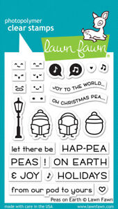 Lawn Fawn Clear Acrylic Stamps Peas on Earth lf2421