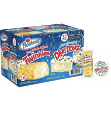 Hostess Red White Blue Twinkies Star Spangled DingDongs Variety Pck 32CT 42.08OZ