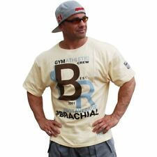 Brachial T-Shirt Athletic Elfenbein Bodybuilding Fitness