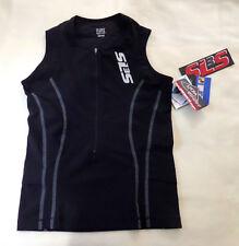 Athletic Sleeveless Top  SL3S  SLS3 XS Race Apparel  Zipped Raven Black