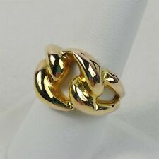 14K Italy Gold Ring Size 10.5 Chain Link Design 2.93 Grams