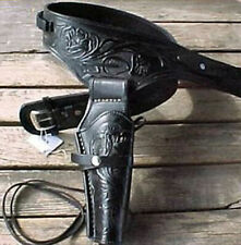 Holsters noir western country fait-main en cuir vachette made in Mexique