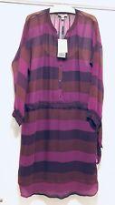 Burberry Brit Irene Striped Magenta Pink Silk Dress dress Size 6 (US 4) NWT