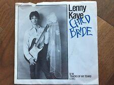 LENNY KAYE 45 Child Bride b/w Tracks Of My Tears MER  ORIG Patti Smith PS