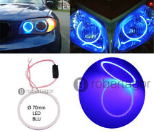 ANGEL EYES BLU COB LED COLORE BLUE ANELLO LUCE AUTO MOTO QUOD SUV 70MM GQ-1070