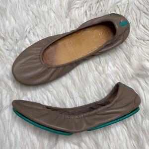 Tieks leather ballet flats 9 taupe