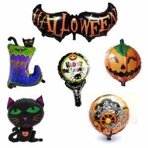 Foil Balloons Halloween Pumpkin Boots Ghost Skeletons Bat Carnival Party Decor