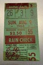 Aug 9, 1964 New York Yankees & Baltimore Orioles DH Ticket Stub Maris HR