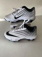 Nike Vapor Ultrafly 2 Keystone Youth Baseball Cleats AQ8151-100 White Black 6