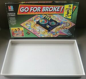 """MB GAMES """"GO FOR BROKE"""" (1993) SPARE/REPLACEMENT BOARD GAME BOX ONLY (EMPTY BOX)"""