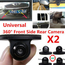 2x 360 Degree Waterproof Car Front Side Rear View Reverse Backup Camera Parking