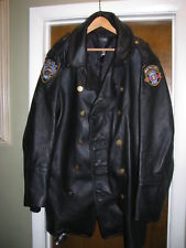 NEW YORK CITY Police NYPD Motorcycle Leather Biker Jacket Black Size 50 $1500