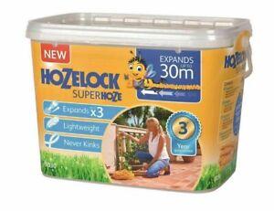 Hozelock 8230 Superhose Expandable Garden Hosepipe + Fittings 30m HOZ8230