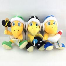 "3x Super Mario bros Koopa bombe marteau BOOMERANG Troopa tortue peluche jouet teddy 8 """