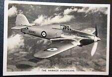 Hawker Hurricane  RAF Fighter   Original Unmounted  1938 Vintage Photo Card